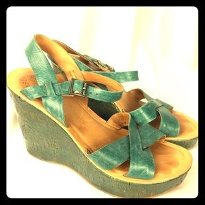 KORK-EASE sandals Straps wedge sz 9/39